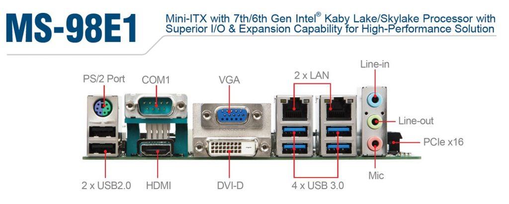 MS-98E1 アルミフロントフレームデザイン 産業用パネルPC