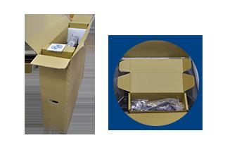 Corrugated carton and accessory