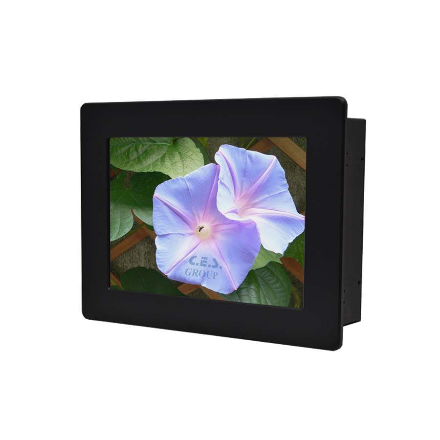6.5-inch Aluminum Front bezel Panel mount design Industrial LCD Monitor