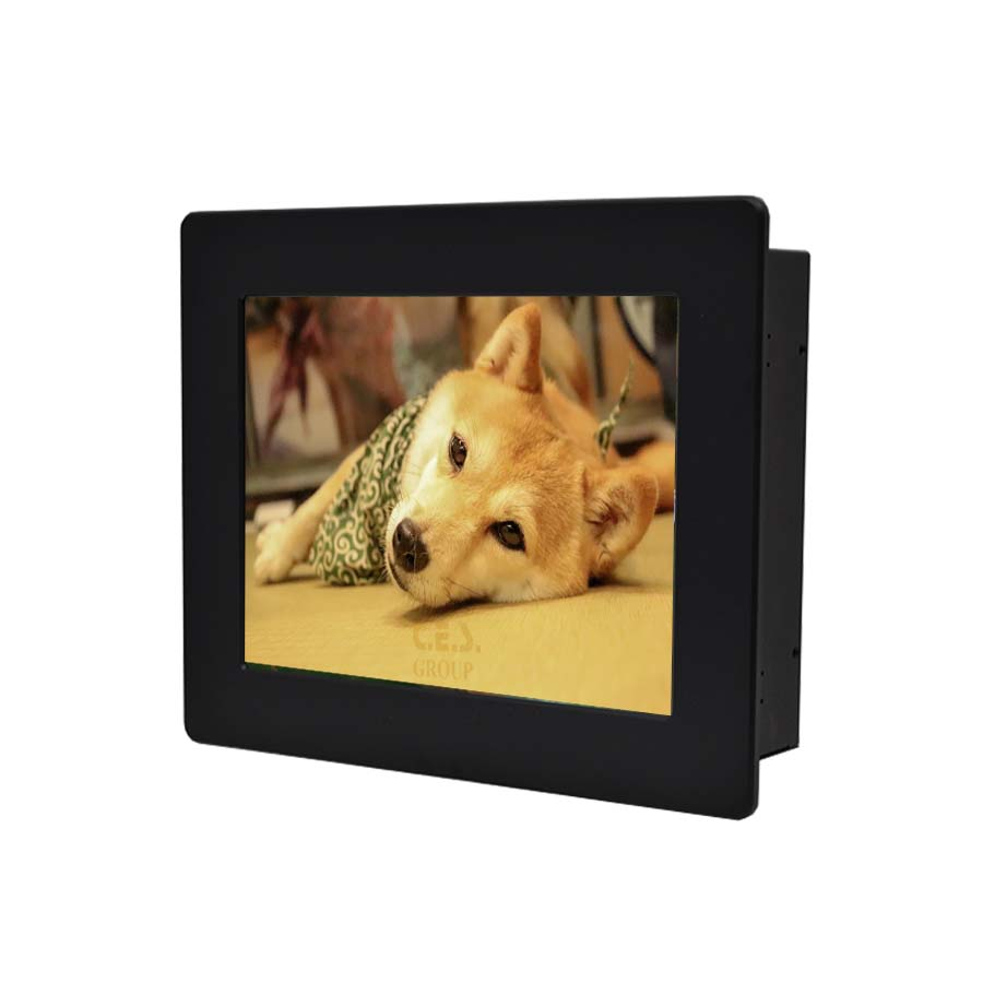 8.4-inch Aluminum Front bezel Panel mount design Industrial LCD Monitor