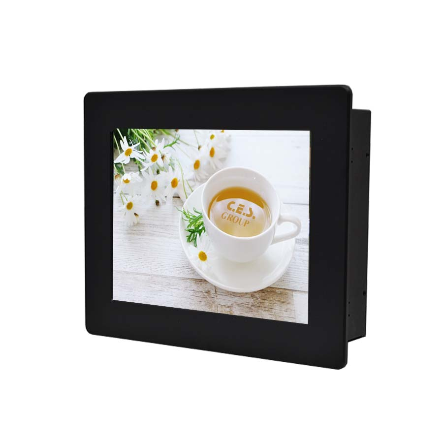 15-inch Aluminum Front bezel Panel mount design Industrial LCD Monitor