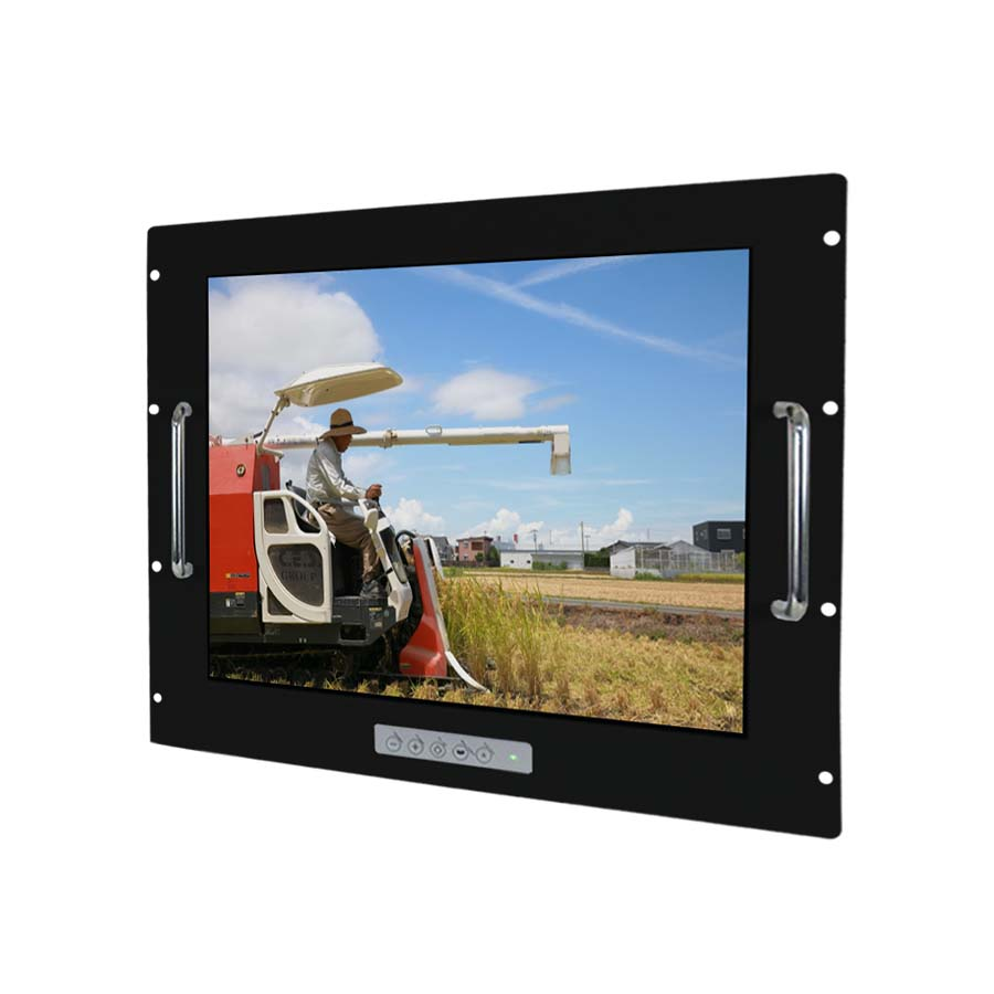 15–inch Aluminum Front bezel Rack mount design Industrial LCD Monitor