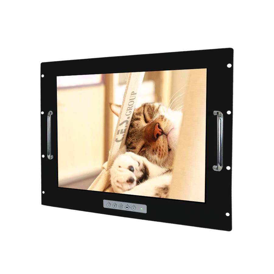 17–inch Aluminum Front bezel Rack mount design Industrial LCD Monitor