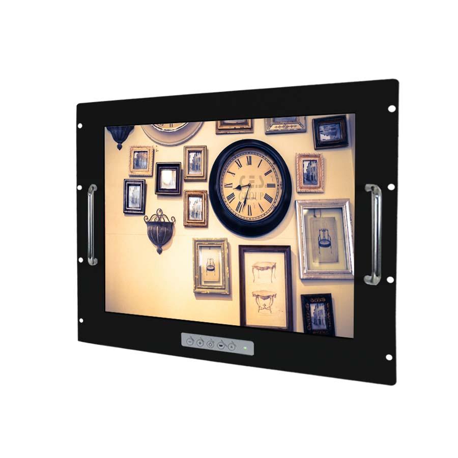 19–inch Aluminum Front bezel Rack mount design Industrial LCD Monitor