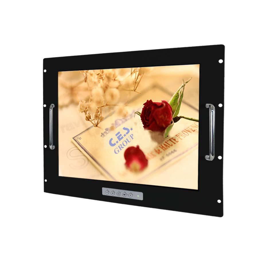 20.1–inch Aluminum Front bezel Rack mount design Industrial LCD Monitor
